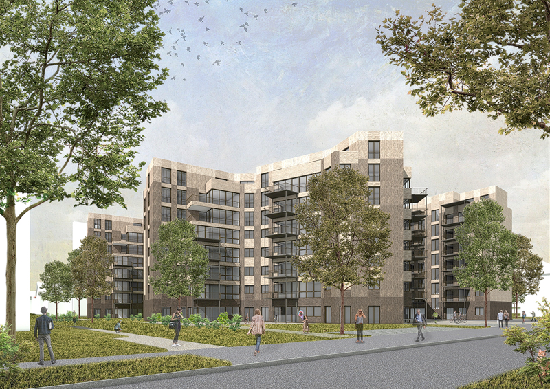 Nimbus Architekten Michael Bühler Lukas Schaffhuser Wohnsiedlung Hardau I Zuerich Aussenperspektive