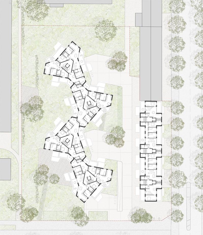 Nimbus Architekten Michael Bühler Lukas Schaffhuser Wohnsiedlung Hardau I Zuerich Dachgeschoss