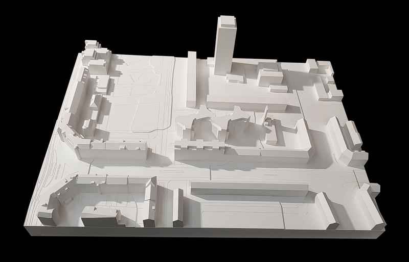 Nimbus Architekten Michael Bühler Lukas Schaffhuser Wohnsiedlung Hardau I Zuerich Gipsmodell 2