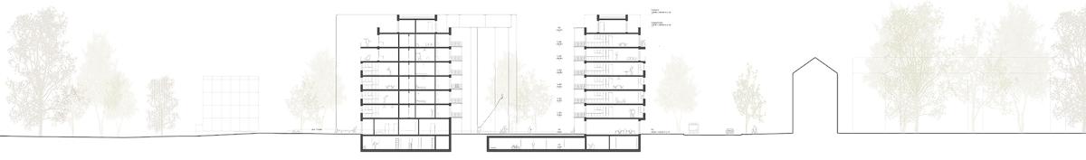 Nimbus Architekten Michael Bühler Lukas Schaffhuser Wohnsiedlung Hardau I Zuerich Schnitt