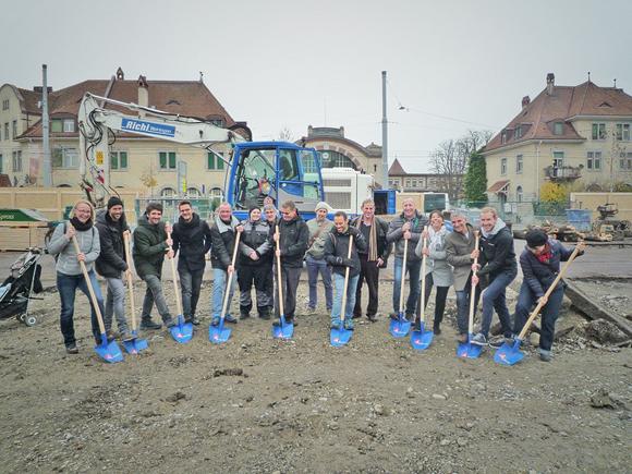 Nimbus Architekten Michael Bühler Lukas Schaffhuser Spatenstich Wohnsiedlung Herdernstrasse