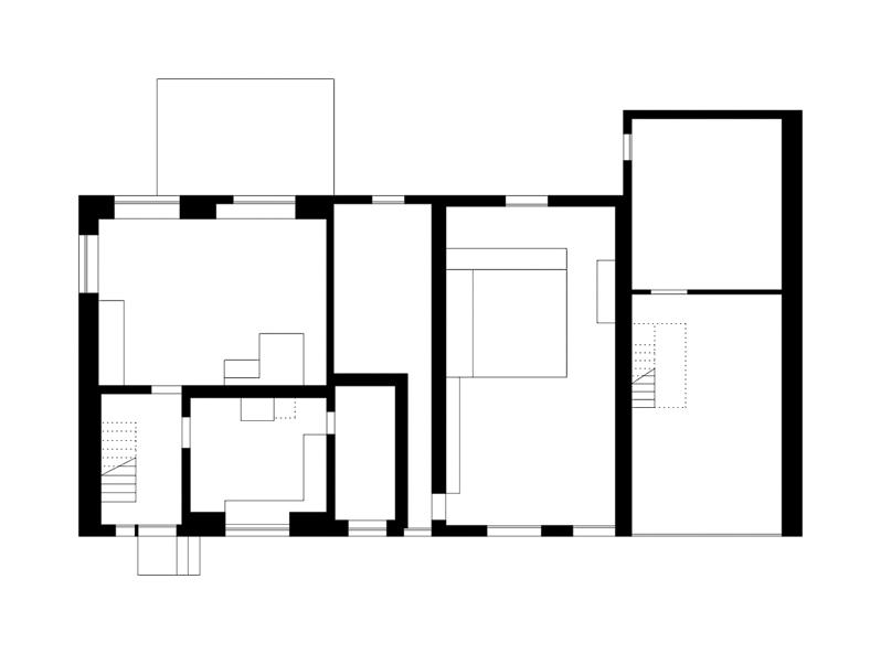 Nimbus Architekten Michael Bühler Lukas Schaffhuser Renovation Bauernhaus Adliswil Erdgeschoss
