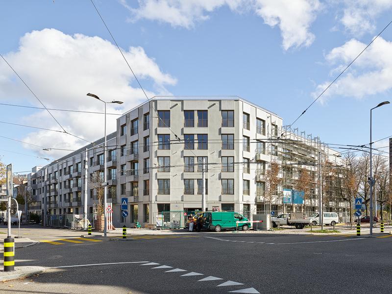 Nimbus Architekten Michael Bühler Lukas Schaffhuser Wohnsiedlung Herdernstrasse Bild Kreuzung Georg Aerni