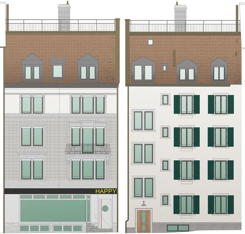 Nimbus Architekten Michael Bühler Lukas Schaffhuser Renovation Dienerstrasse Zürich Fassaden