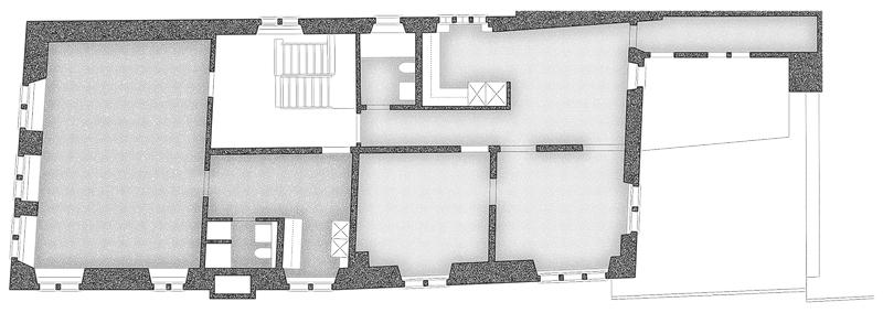 Nimbus Architekten Michael Bühler Lukas Schaffhuser Umbau Spiegelgasse Münstergasse Grundriss Obergeschoss 2