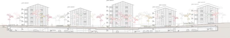 Nimbus Architekten Michael Bühler Lukas Schaffhuser Studienauftrag Schützenmatt Inwil Ansicht