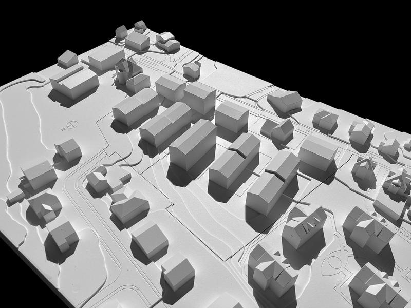 Nimbus Architekten Michael Bühler Lukas Schaffhuser Studienauftrag Schützenmatt Inwil Modell