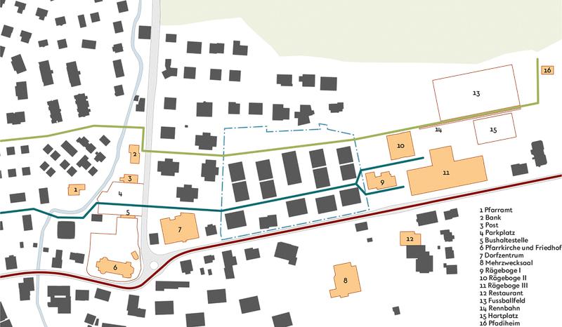 Nimbus Architekten Michael Bühler Lukas Schaffhuser Studienauftrag Schützenmatt Inwil Ortsbild Konzept Konzept Städtebau