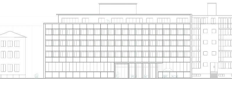 Nimbus Architekten Michael Bühler Lukas Schaffhuser Wettbewerb Umbau Hochbergerstrasse 158 Basel Ansicht Strasse