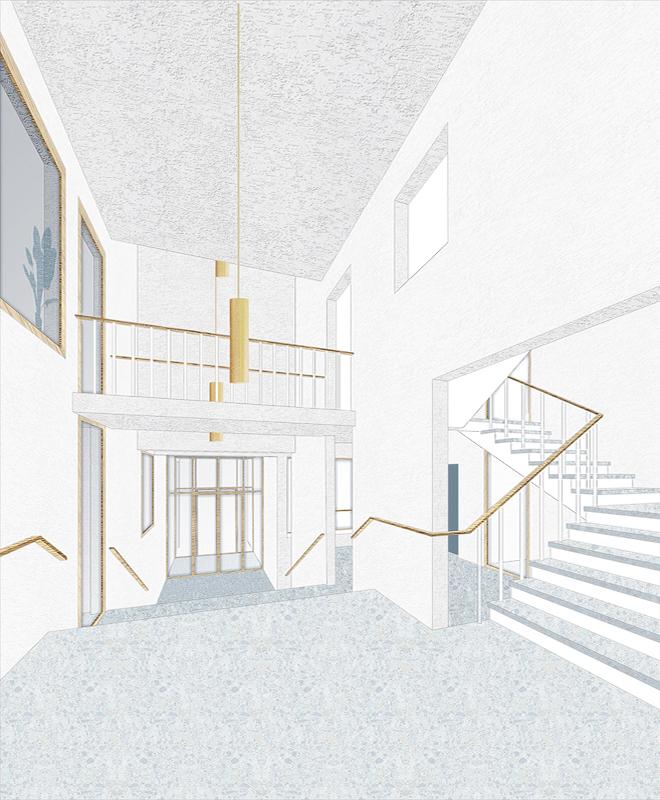 Nimbus Architekten Michael Bühler Lukas Schaffhuser Wettbewerb Umbau Hochbergerstrasse 158 Basel Bild Treppenhaus