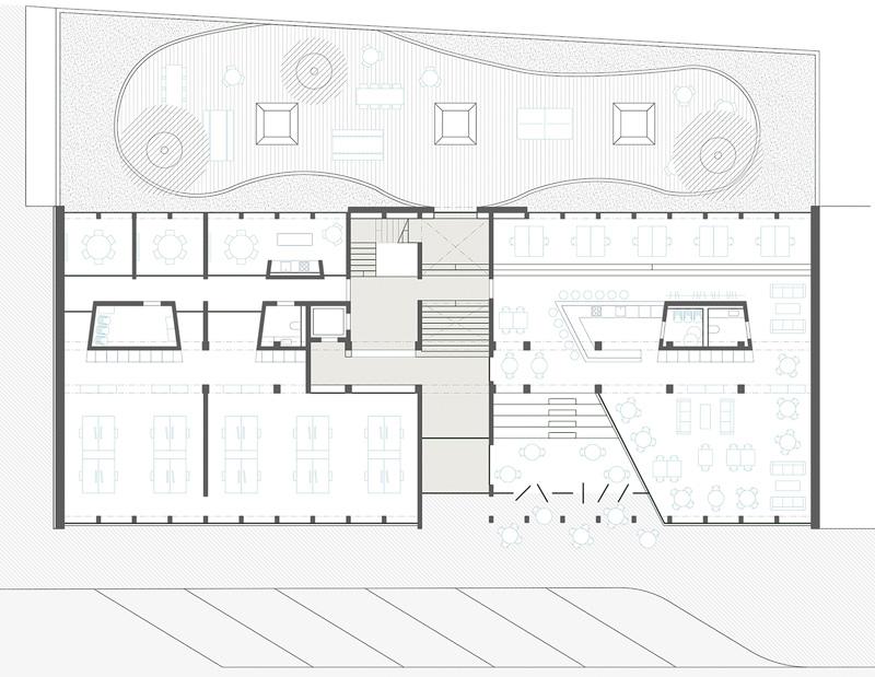 Nimbus Architekten Michael Bühler Lukas Schaffhuser Wettbewerb Umbau Hochbergerstrasse 158 Basel Grundriss Erdgeschoss