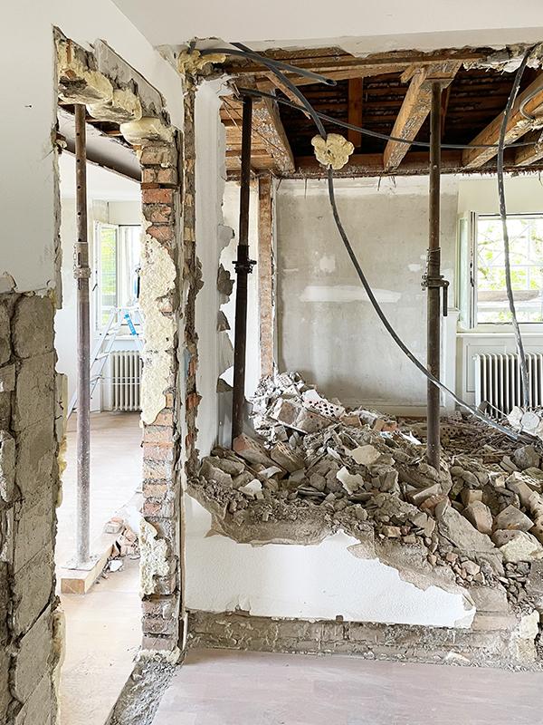 Nimbus Architekten Zürich Michael Bühler Lukas Schaffhuser Impression Baufortschritt Umbau Zürich